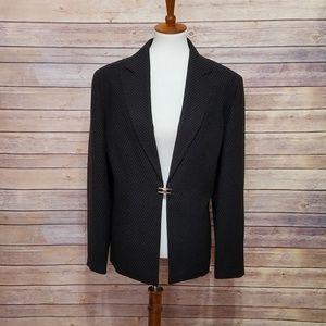 EUC Bill Blass Black/White Pinstripe Blazer 18